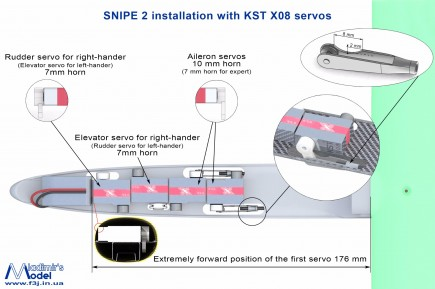 snipe 2 installation with kst x08 servos2
