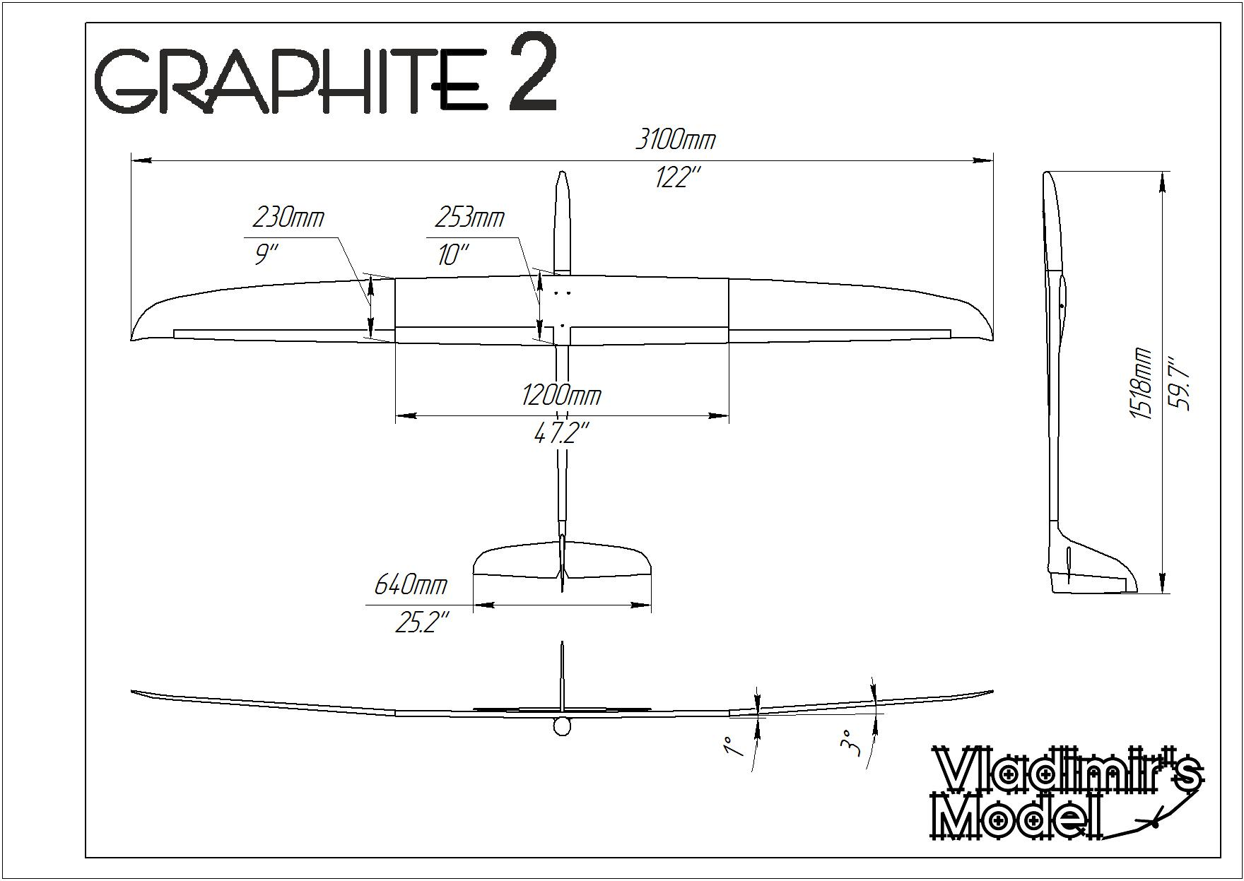 Graphite 2 Cross tail